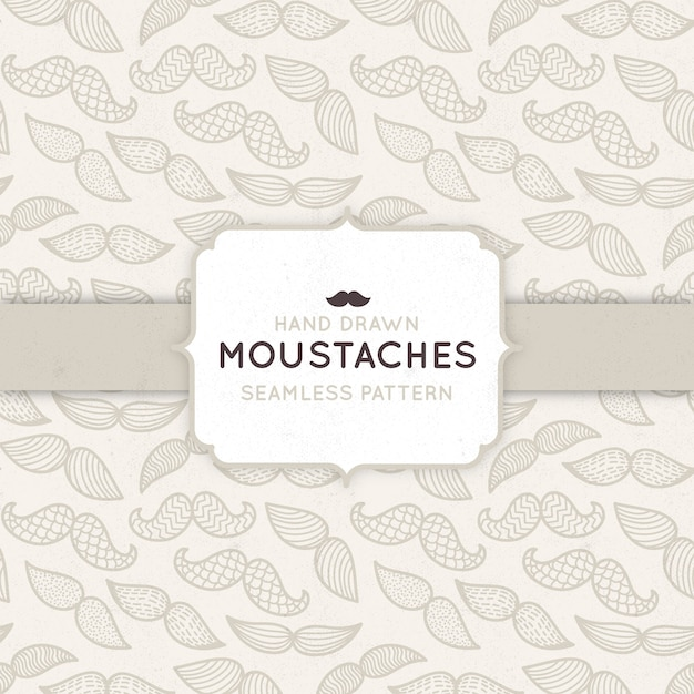 Pattern with mustaches for movember Premium Vector