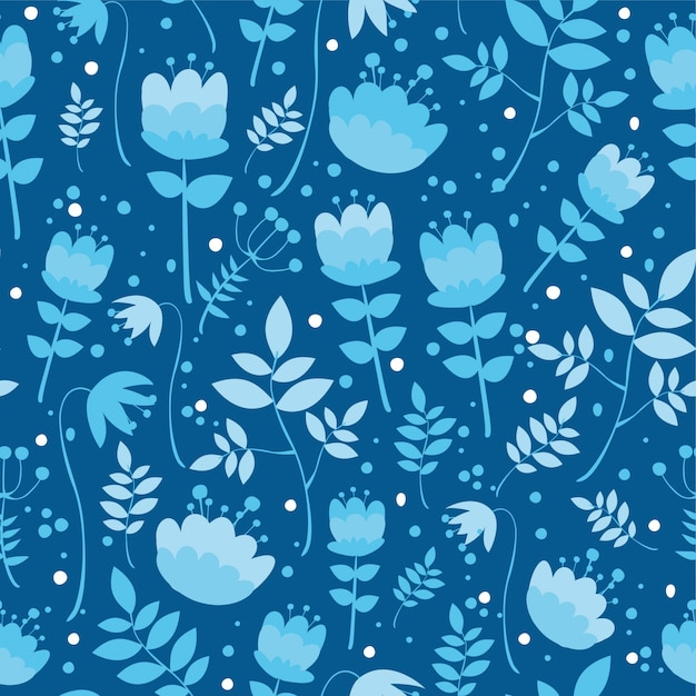 Pattern with plants Free Vector