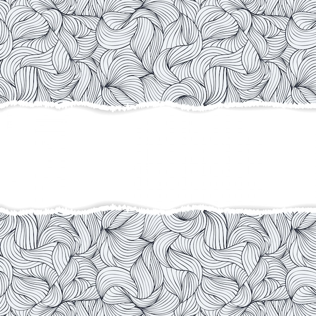 Pattern with torn paper Premium Vector