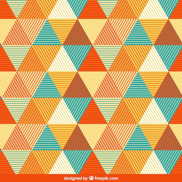 Pattern with triangles Premium Vector