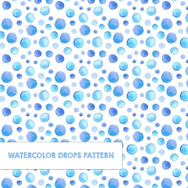 Pattern with watercolor drops Free Vector