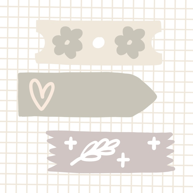 Patterned sticky tape Free Vector