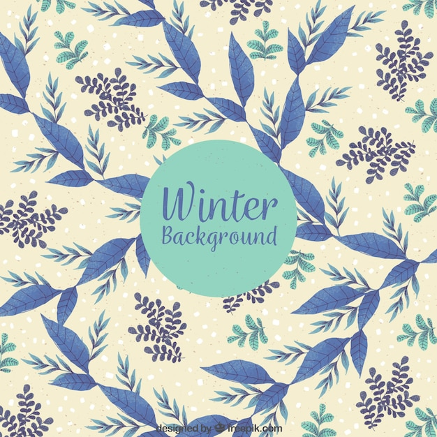Patterned winter background