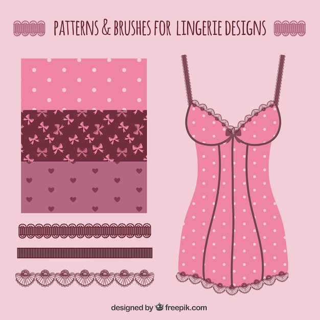 Erotic. Love patterns for lingerie