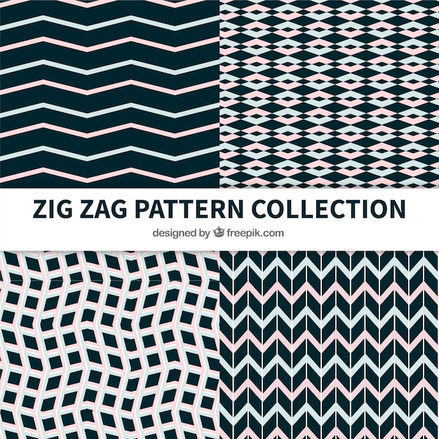 Patterns collection of abstract shapes