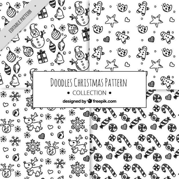 Christmas Sketches.Patterns Of Christmas Sketches Stock Images Page Everypixel