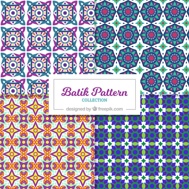 Patterns Set Of Batik Geometric Shapes Vector