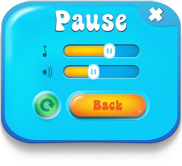 Pause scene Premium Vector