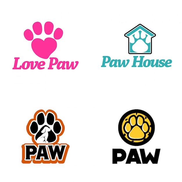 Paw logo vector art Premium Vector