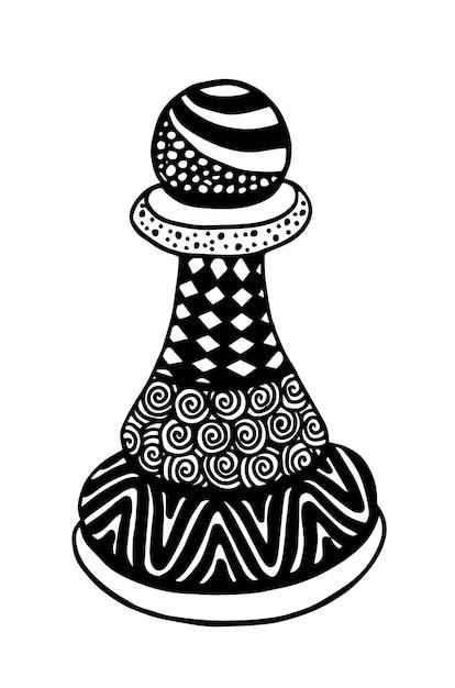 Pawn chess piece vector illustration art Premium Vector