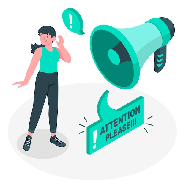 Pay attention concept illustration Free Vector