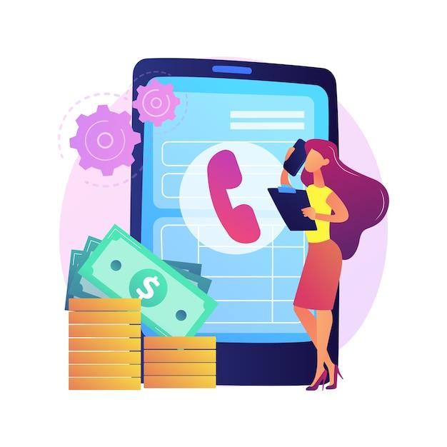 Оплатить звонок. общение через смартфон. телефонный контакт, линия помощи, поддержка клиентов. решение проблем с телефонным консультантом. разговор по мобильному телефону. изолированные концепции метафоры иллюстрации. Бесплатные векторы