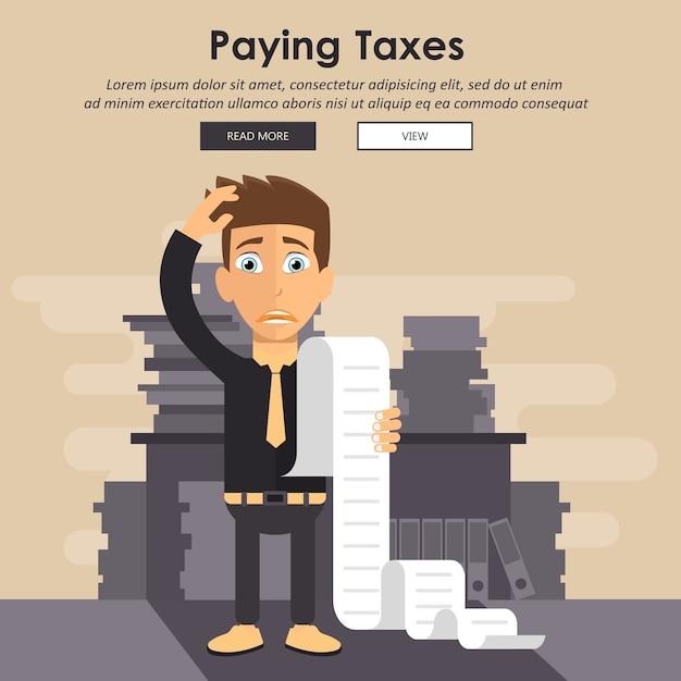 Оплата счетов и налогов концепция Premium векторы