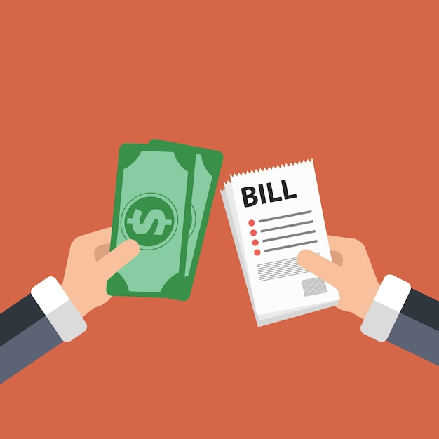 Paying bills concept Vector | Premium Download