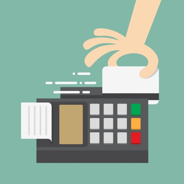 Paying with credit card Free Vector