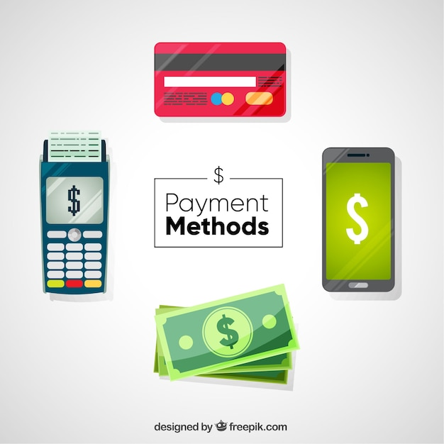 Payment methods with modern style Free Vector