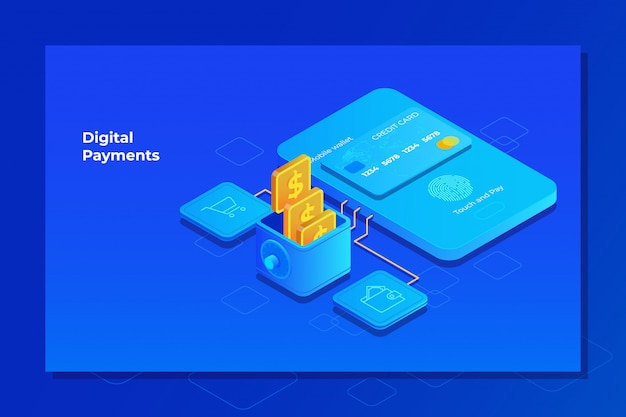 Payment system mobile interface Premium Vector