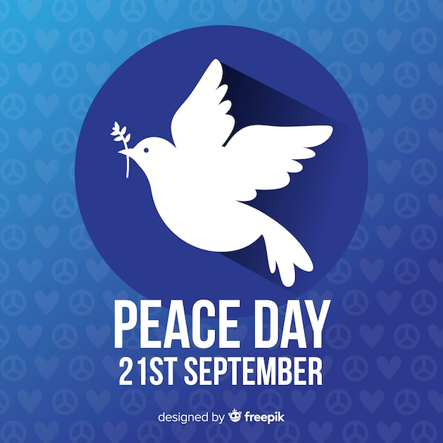 Peace day background Free Vector