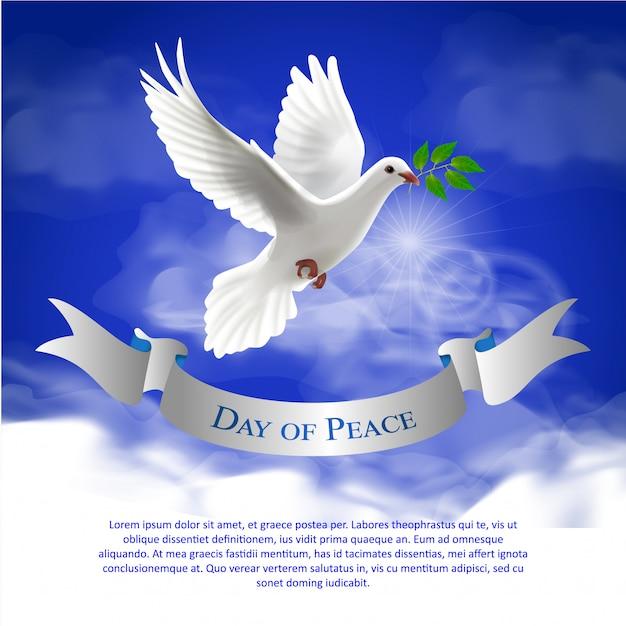 Peace day Premium Vector
