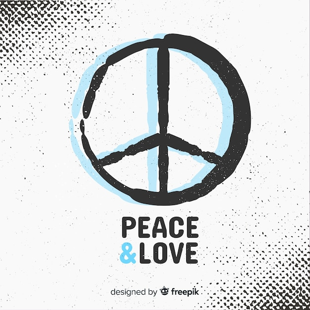 Peace sign background Free Vector