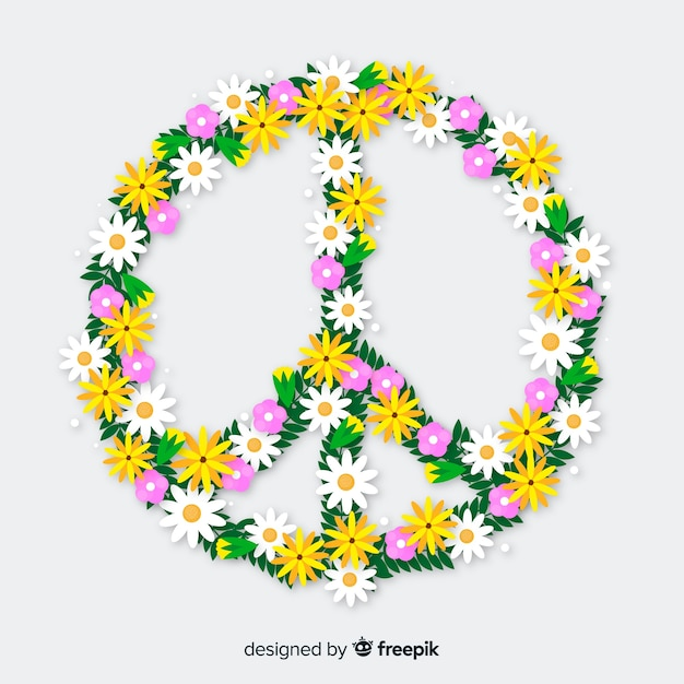 Peace sign Free Vector