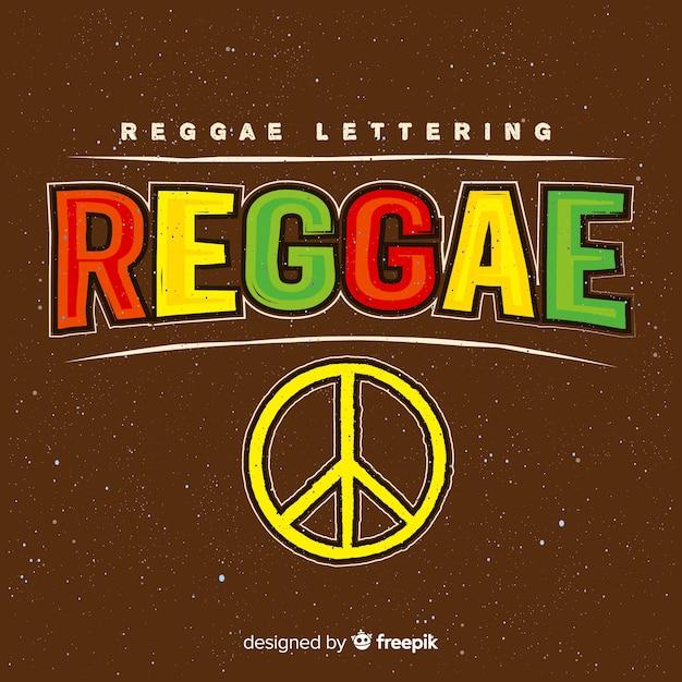 Peace symbol reggae background Free Vector