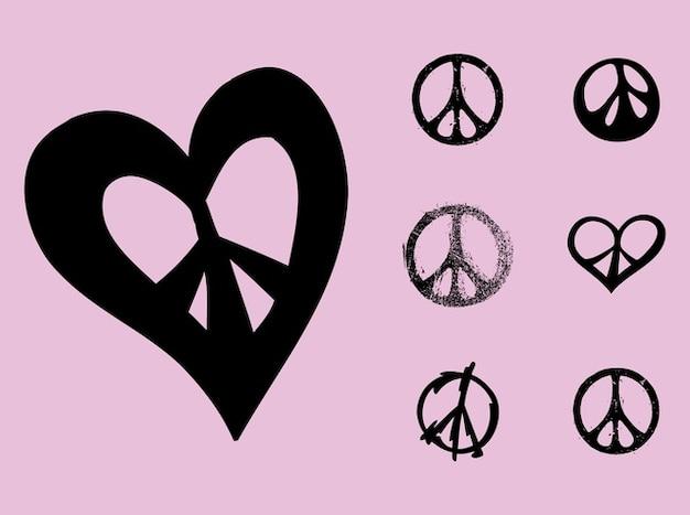 Peace Symbols Flower Power Vector Vector Free Download