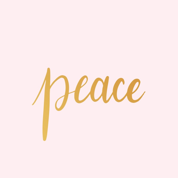 Peace word typography style vector Vector | Free Download