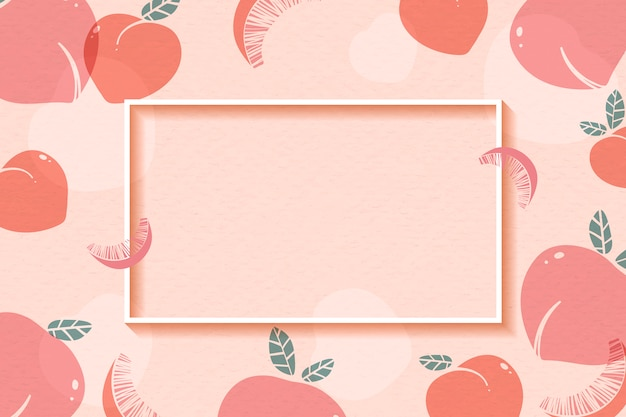Peach patterned frame Free Vector