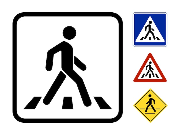 Pedestrian symbol vector illustration isolated on white background Free Vector