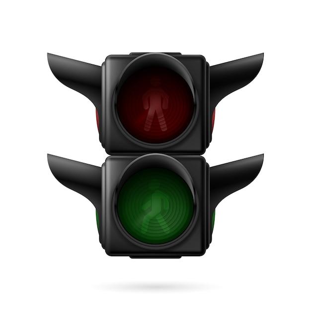 Pedestrian traffic light Premium Vector