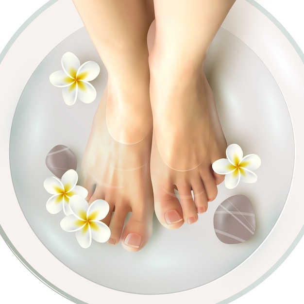 Pedicure spa illustration Free Vector