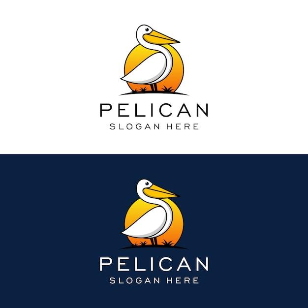 ペリカンのロゴのデザインテンプレート Premiumベクター