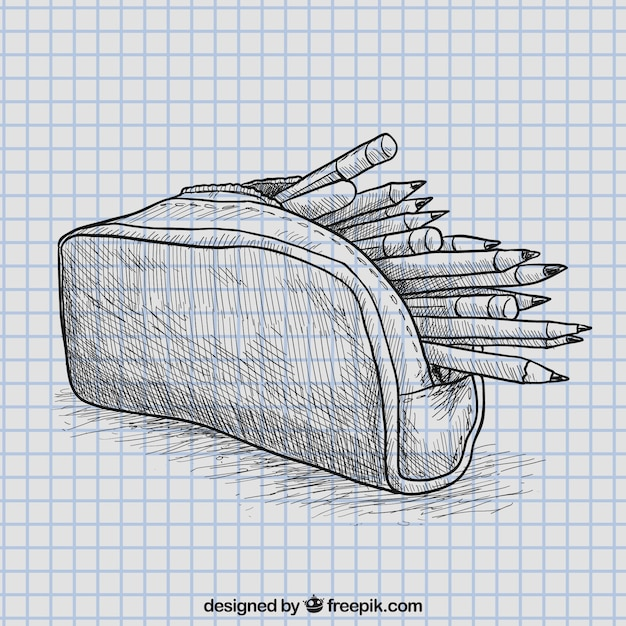 Pencil case Free Vector