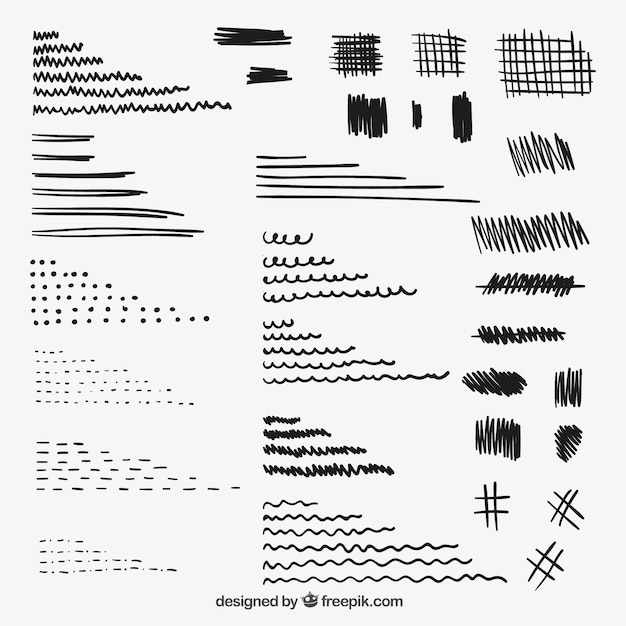 Pencil doodles free vector