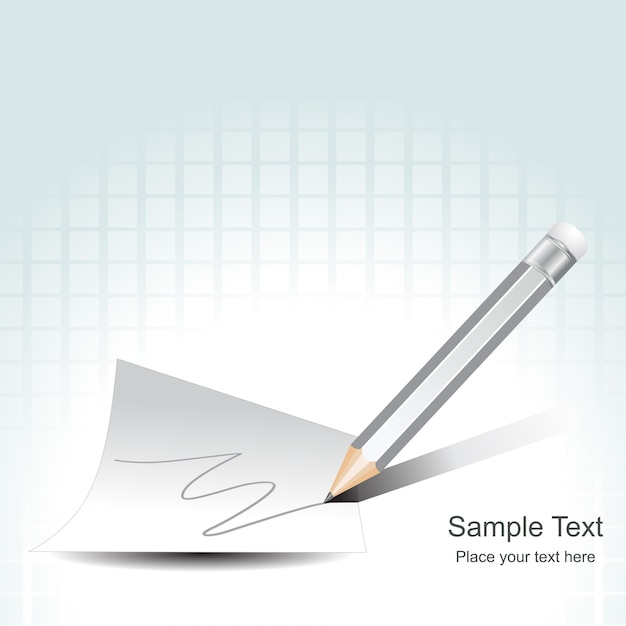 Pencil writing on paper Free Vector