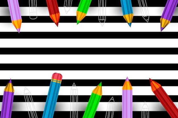 Pencils background Premium Vector