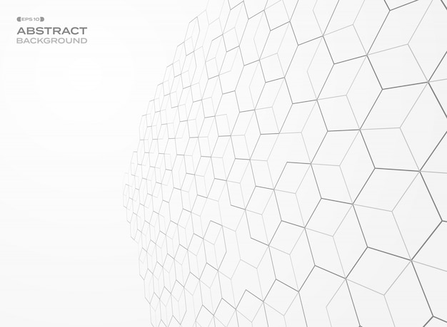 Pentagon pattern geometric perspective background. Premium Vector