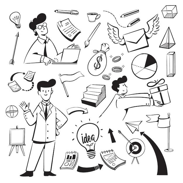 Люди и значки для веб-сайта маркетингового агентства Premium векторы