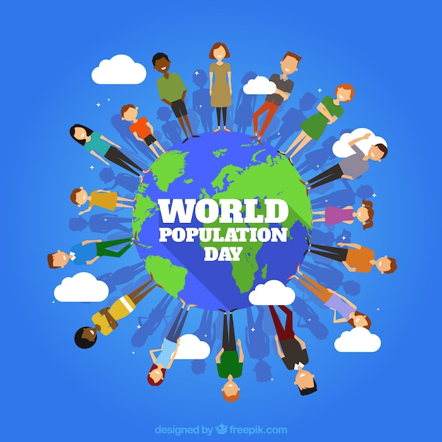 People around the world background Free Vector