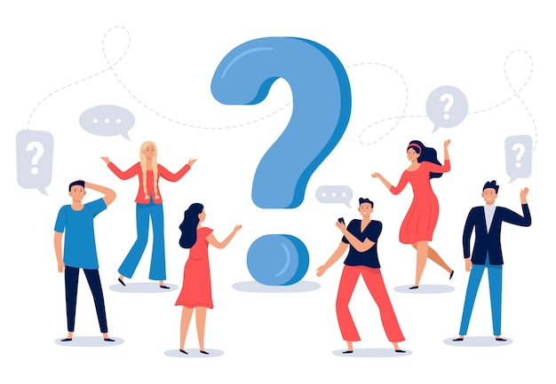 People ask question Free Vector