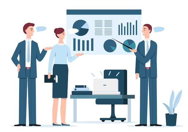 People at business presentation\ illustration