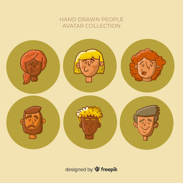 People avatar collection Free Vector