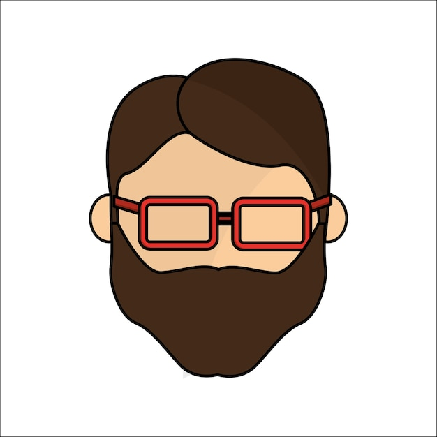 people avatar face men with glasses icon vector premium download