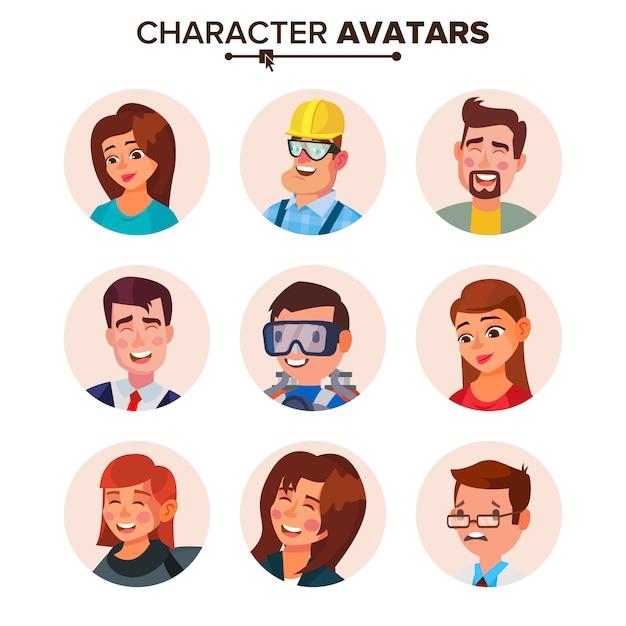 People avatars collection. Premium Vector