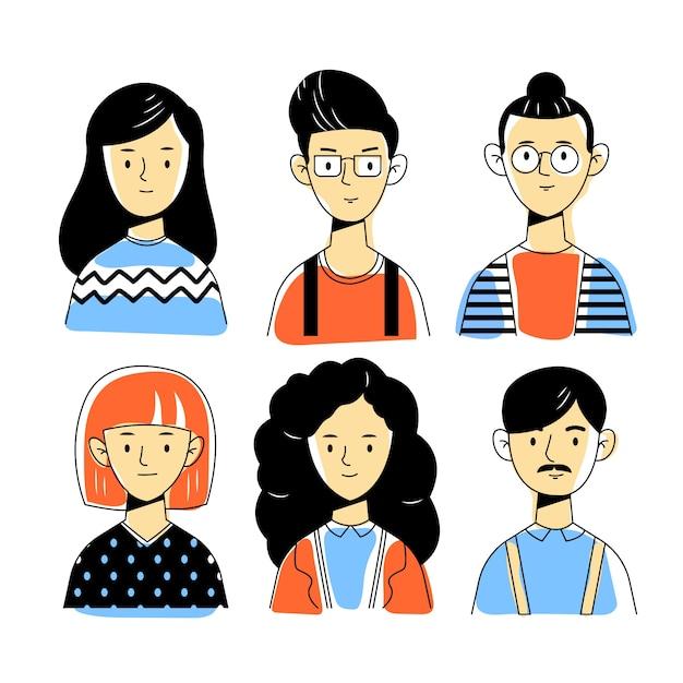 Concetto dell'illustrazione degli avatar della gente Vettore gratuito