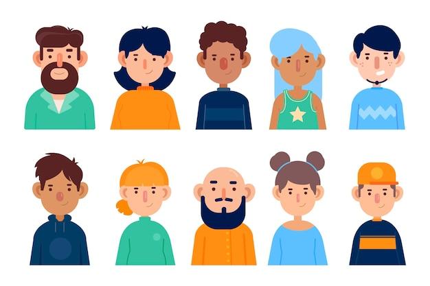 Иллюстрация людей аватары Бесплатные векторы