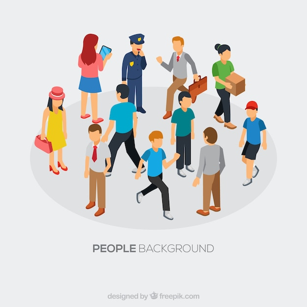 People background design Free Vector