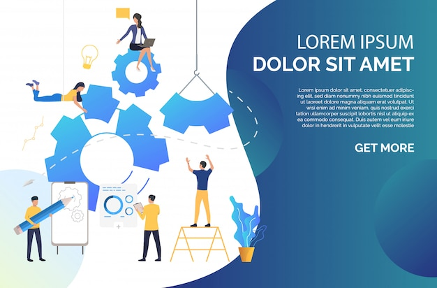 People building business Free Vector