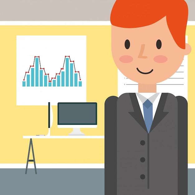 People business office Premium Vector